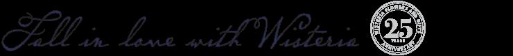 Wisteria 25 year logo