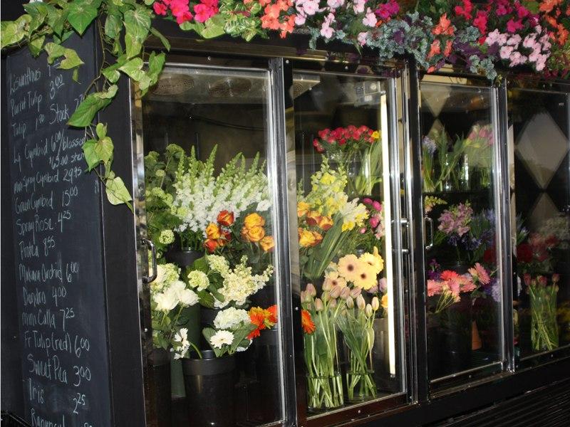 Fresh flowers in case