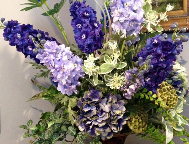 silk-arrangment-blue