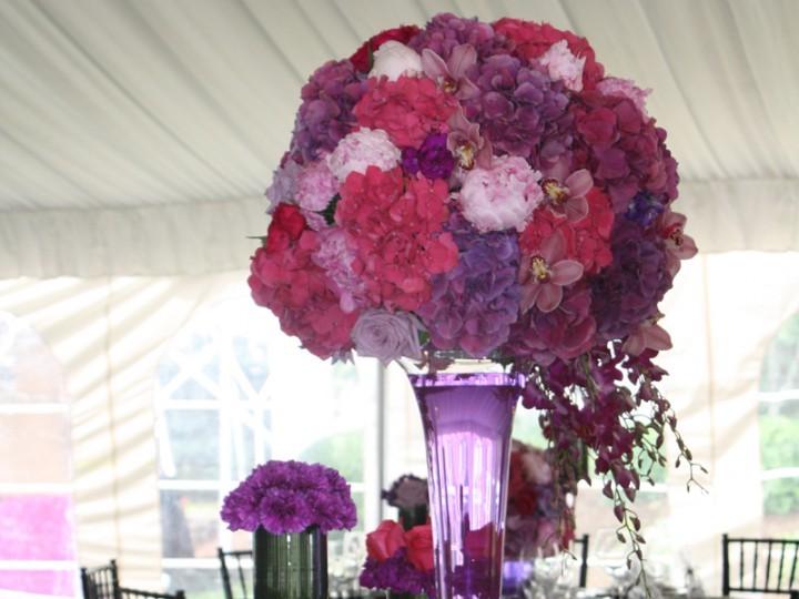 A classic garden wedding table