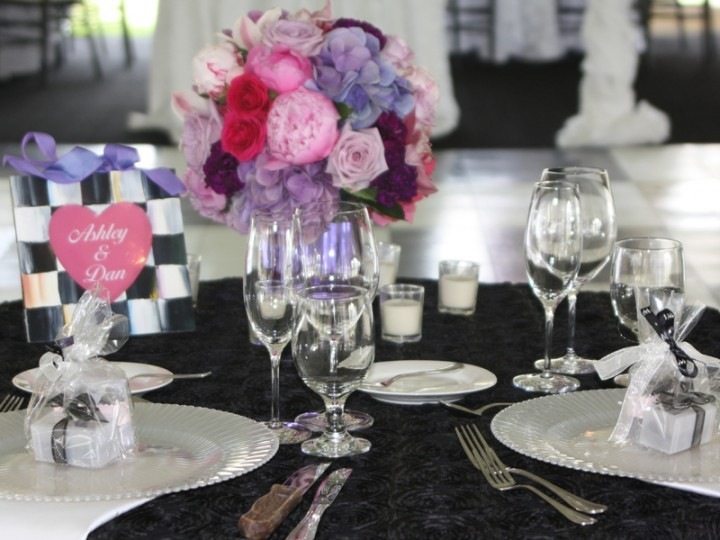Table details of a classic garden wedding