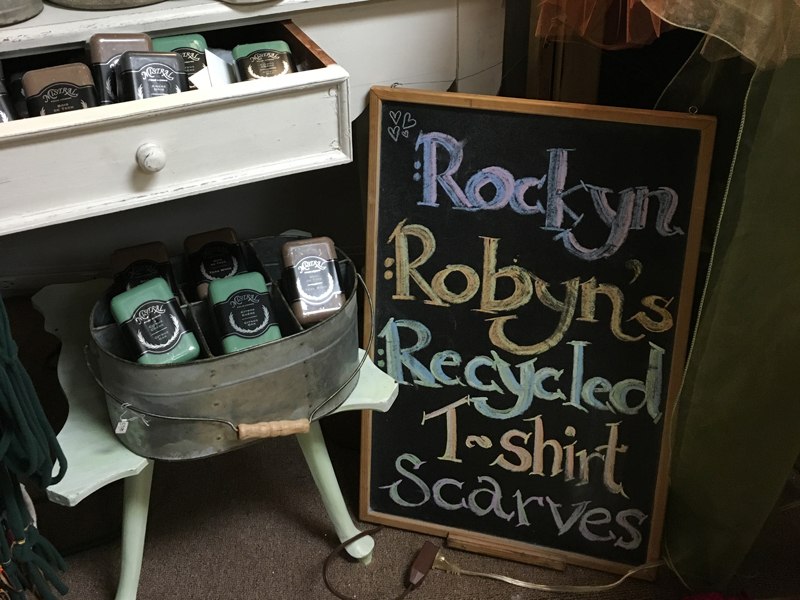 Gift soaps and t-shirts