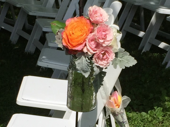 Traditional Garden Wedding Floral Arrangement Wisteria