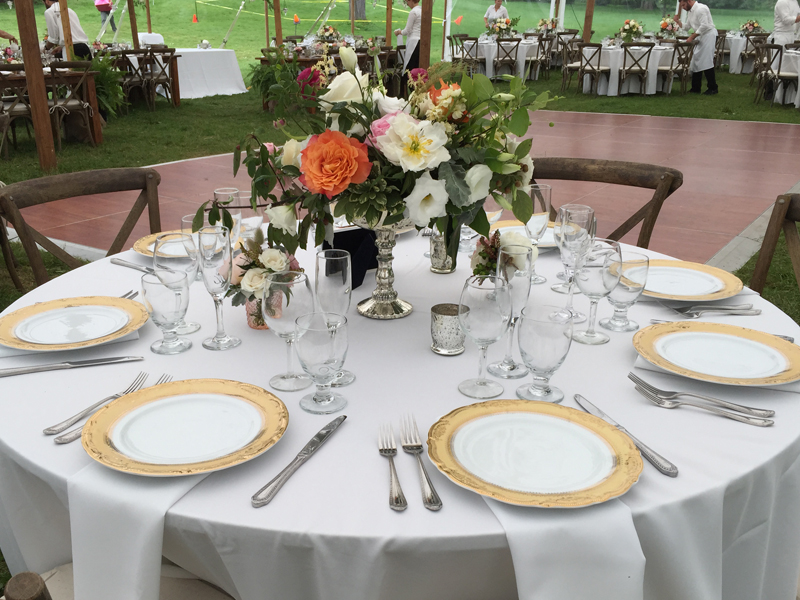 A traditional style wedding table