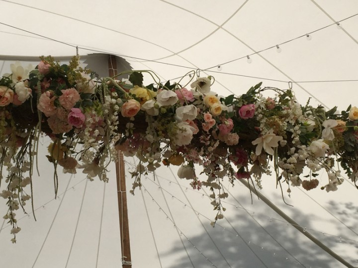 A traditional style wedding tent