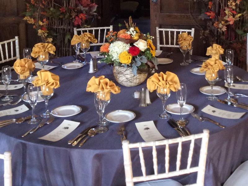Table decoration design corporate event