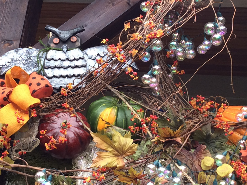 Rustic autumn theme home decoration