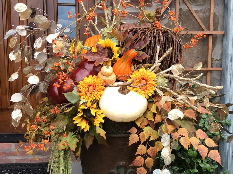 Autumn themed home decorations