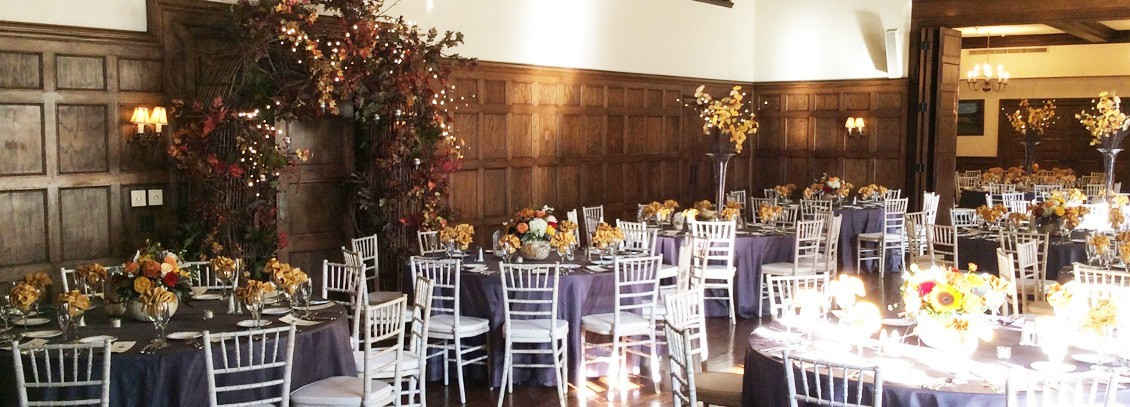 Corporate decorating table arrangements