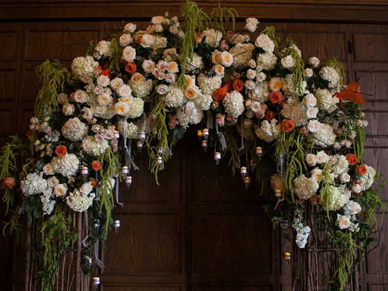 English countryside wedding floral arch