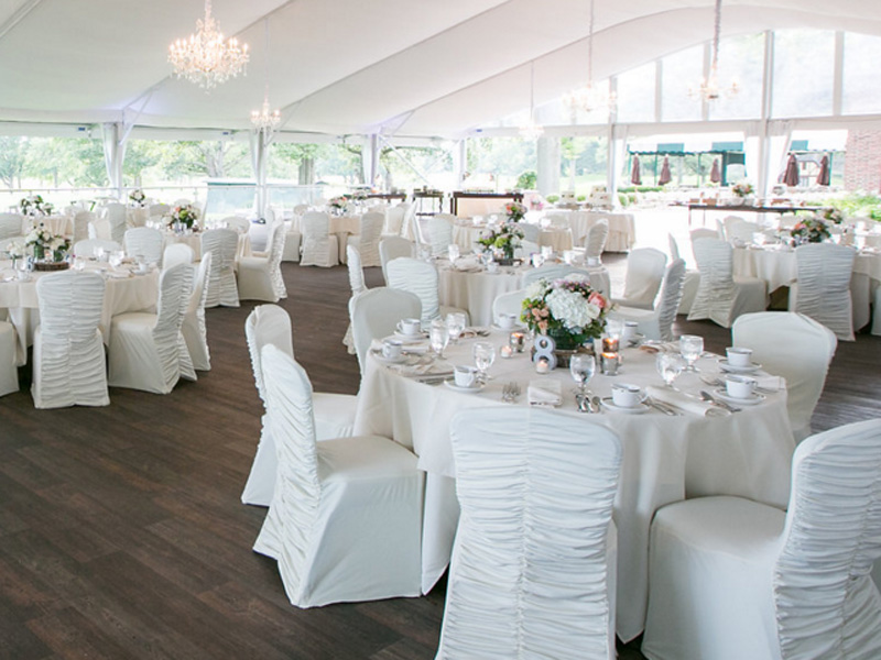 Pretty Pastels Wedding Reception Tent