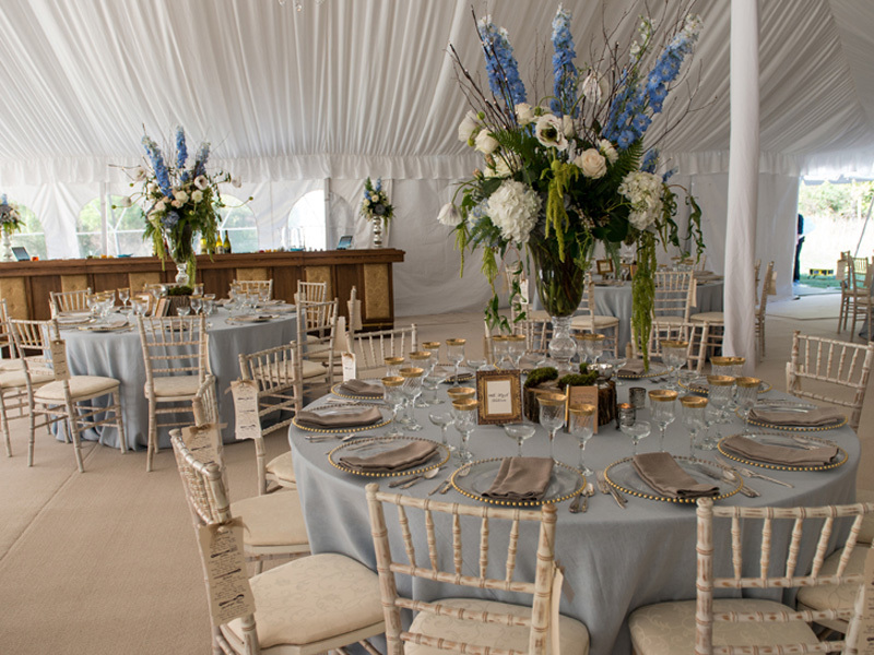 Rustic Dream Wedding Reception Tent Wisteria Flowers And Gifts