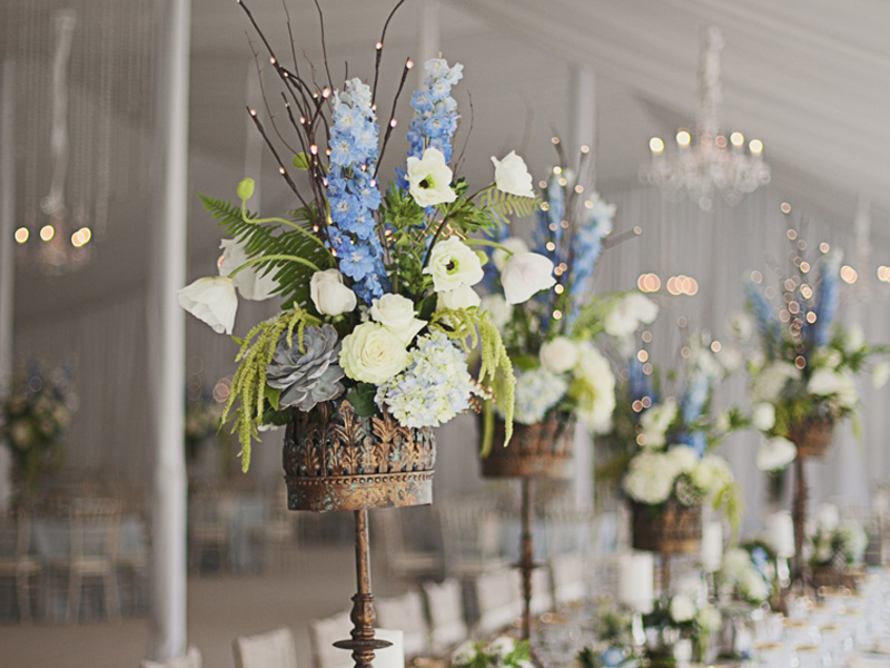 Pretty Pastels Head Table Arrangement