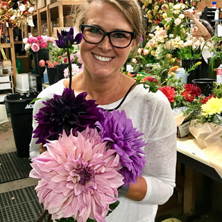 Smiling Wisteria Flowers and Gifts owner Jennifer Ralph