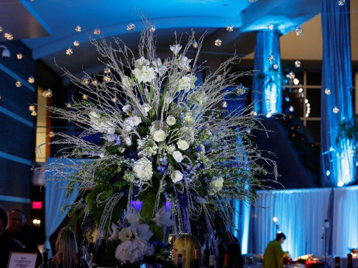 Floral design at event venue