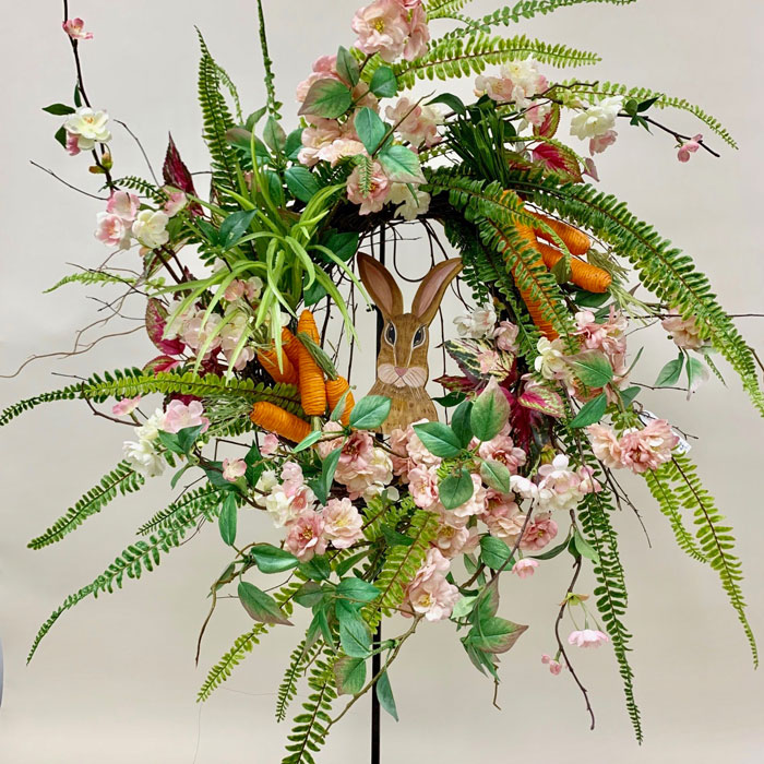 Spring Easter silk wreath
