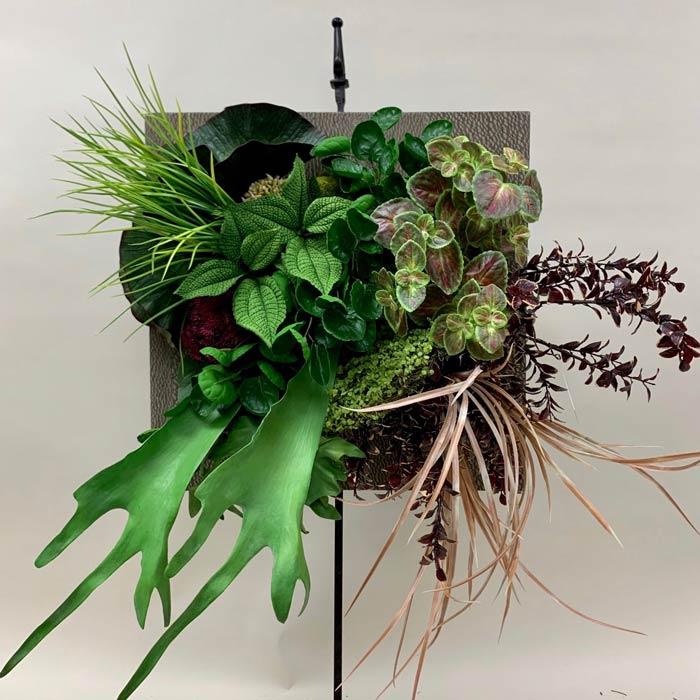 Modern silk flower wreath design
